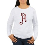 A is for Atheist Women's Long Sleeve T-Shirt