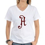 A is for Atheist Women's V-Neck T-Shirt