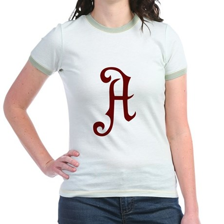 A is for Atheist Jr. Ringer T-Shirt