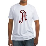 A is for Atheist Fitted T-Shirt