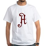 A is for Atheist White T-Shirt