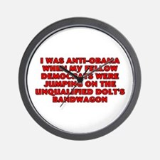 I was anti-Obama Wall Clock