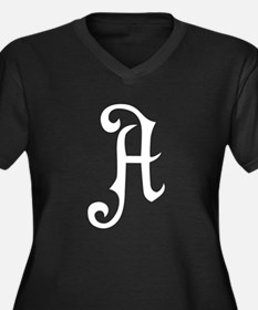 A is for Atheist Women's Plus Size V-Neck Dark T-S
