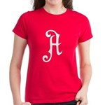 A is for Atheist Women's Dark T-Shirt