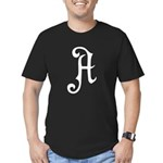 A is for Atheist Men's Fitted T-Shirt (dark)