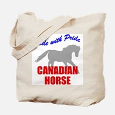Ride With Pride Canadian Horse Tote Bag