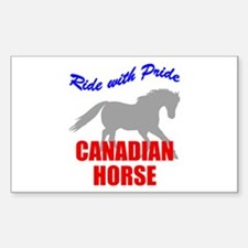 Ride With Pride Canadian Horse Sticker (Rectangula