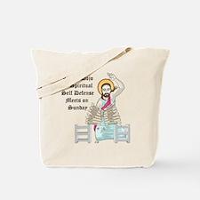 Board Breaking Jesus Tote Bag