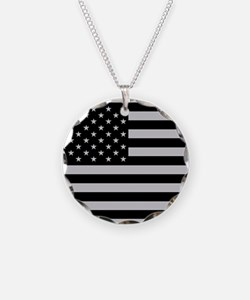 Subdued US Flag Tactical Necklace