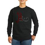 Atheist Insignia Long Sleeve Dark T-Shirt