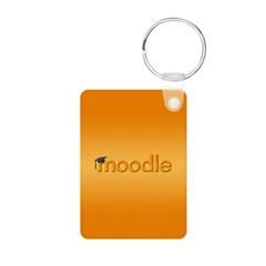 Orange Moodle Aluminum Photo Keychain