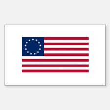 Betsy Ross Sticker (Rectangle)