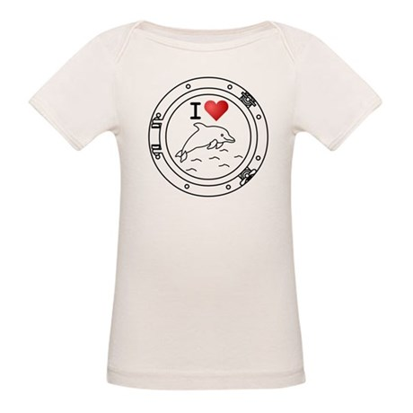 I Heart Dolphins Organic Baby T-Shirt