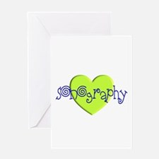 Sonographer Greeting Card