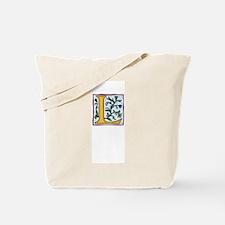 """Garden """"L"""" in Gold Tote Bag"""