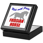 Ride With Pride Friesian Horse Keepsake Box
