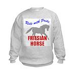 Ride With Pride Friesian Horse Kids Sweatshirt