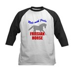 Ride With Pride Friesian Horse Kids Baseball Jerse