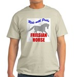 Ride With Pride Friesian Horse Ash Grey T-Shirt