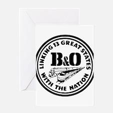 B&O 13 states railway logo Greeting Cards