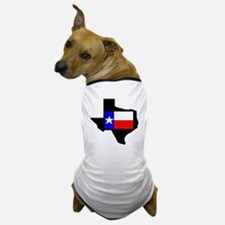 Texas W/Flag #2 - Dog T-Shirt