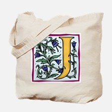 """Garden """"J"""" in Gold Tote Bag"""