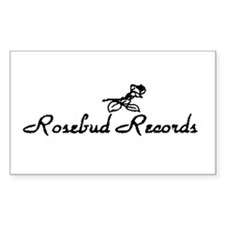 Rosebud Records Rectangle Decal