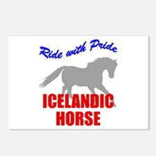Ride With Pride Icelandic Horse Postcards (Package