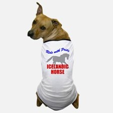 Ride With Pride Icelandic Horse Dog T-Shirt