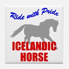 Ride With Pride Icelandic Horse Tile Coaster