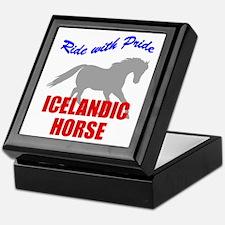 Ride With Pride Icelandic Horse Keepsake Box