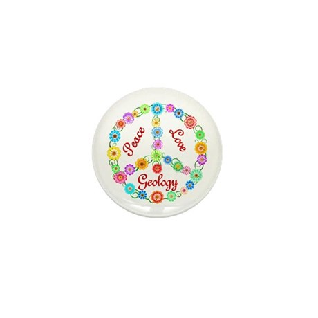 Peace Love Geology Mini Button (10 pack)