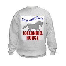 Ride With Pride Icelandic Horse Sweatshirt