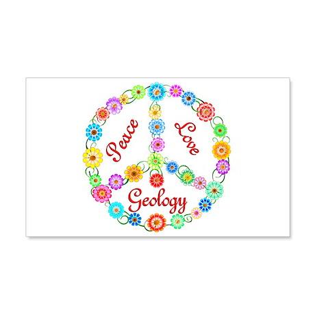 Peace Love Geology 22x14 Wall Peel