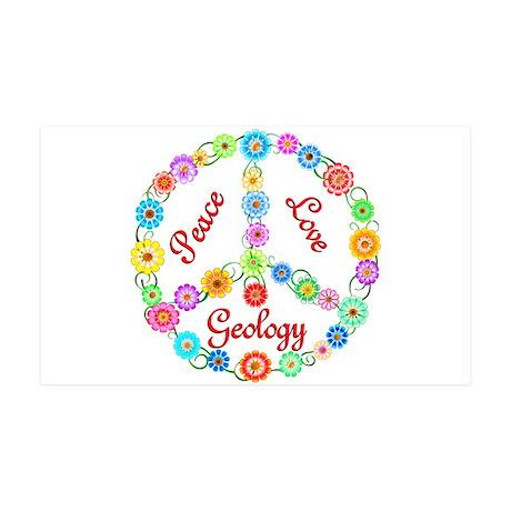 Peace Love Geology 38.5 x 24.5 Wall Peel