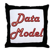 """""""Data Model"""" Throw Pillow"""