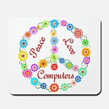 Peace Love Computers Mousepad