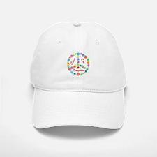 Peace Love Computers Baseball Baseball Cap