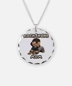 Wirehaired Dachshund Mom Necklace