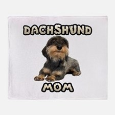 Wirehaired Dachshund Mom Throw Blanket