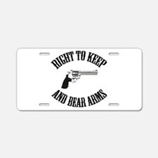 Right To Keep And Bear Arms R Aluminum License Pla