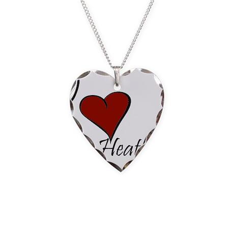 I love Heather Necklace Heart Charm