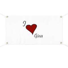 I love Gina Banner