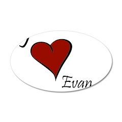 I love Evan 38.5 x 24.5 Oval Wall Peel
