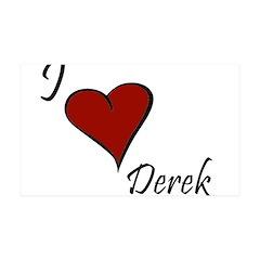 I love Derek 38.5 x 24.5 Wall Peel