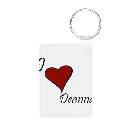 I love Deanna Aluminum Photo Keychain