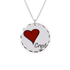 I love Crystal Necklace
