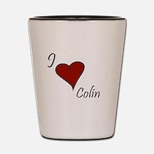 I love Colin Shot Glass