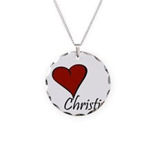 I love Christina Necklace Circle Charm