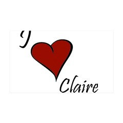 I love Claire 38.5 x 24.5 Wall Peel
